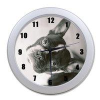 """Wholesale Funny Bulldog - Wholesale-Optional! Funny French Bulldog 9.65"""" elegant wall clock for Home Decoration And Unique Gift for decoration!"""