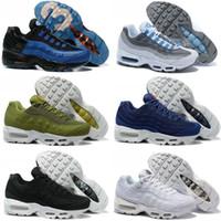 Wholesale Famous Massage - 11 Color New Arrivel Famous 95 Mens Sports Athletic Running Shoes Sneaker Trainers Shoe Size 40-46