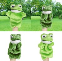 Wholesale Puppet Frog - Children Animal Panda Hand Puppet Baby Early Educational Cartoon Frog Dolls Kids Bedtime Stories Soft Plush Toys