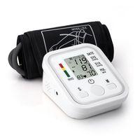 Wholesale Digital Upper Arm Sphygmomanometer - Arm Blood Pressure Pulse Monitor Health care Monitors Digital Upper Portable Blood Pressure Monitor Meters Sphygmomanometer LLFA