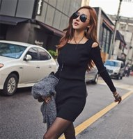 online shopping Mini Dress for Spring - women casual dress Fashionable Slim Manufacturers export One for sale Popular in Europe and America Suspenders Long sleeved Tight skirt