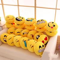 karikatür öpücü toptan satış-Yuvarlak Yastık Dolması Peluş Oyuncaklar Emoji Yumuşak Bolster Karikatür Küçük Yastıklar Minderler Kızgın Utangaç Öpücük Arka Yastık Çocuk Için 6 2 mx Bir R
