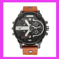 Wholesale Large Clock Calendar - TOP sell like hot cakes new 2017 DZ Men's luxury brand quartz watch Fashion watch Japanese quartz clock 5CM stainless steel large dial