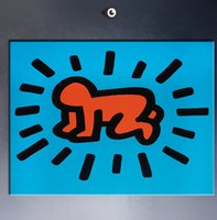 Wholesale Pop Art Original - Keith HARING Original Pop ART GICLEE poster paint on canvas w02
