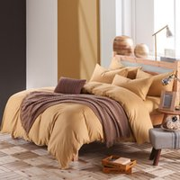 Wholesale Queen Comforter Brown - muchun Brand Christmas Bedding Sets 100% Cotton Solid 4 pcs Comforter Duvet Cover Bed Sheet Home Textiles Bedding Sets
