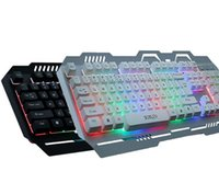 Wholesale Mechanical Suspension - New Backlight Flying Colors LED Gaming Keyboard Mechanical Touch Gaming Advanced Glowing Suspension Home Office Keyboard for laptop PC