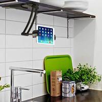 ipad hava tutacağı ayak aparatı toptan satış-Ayarlanabilir Mutfak Tablet Dağı Standı Tutucu için 6-8.5 Inç Genişliği Tablet PC ipad Hava için ipad mini