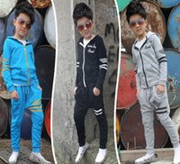 Wholesale Sportswear Sports Suit Baby - kids Clothes girls Sets 2017 Baby Girls Autumn Coats And Jackets Pants Set Fashion Children Clothing Sports Suit For girl Sportswear