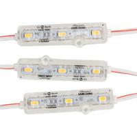 werbeschild licht großhandel-IP68 Einspritzung LED Modul 5630 1.5W 3Leds Zeichen-Hintergrundbeleuchtung imprägniern rotes weißes blaues 12V 60lm jedes Los des Werbungslichtes 600pcs