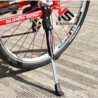 suporte de bicicleta venda por atacado-Suporte lateral de alumínio da cinta do pé do suporte de Kickstand para a bicicleta da bicicleta