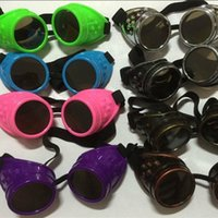 Wholesale Victorian Mirrors Wholesale - Sunglasses Steampunk Goggles Glasses For Kids Welding Victorian Cyber Punk Gothic Sun Glasses Pilot Glasses for women men free shipping