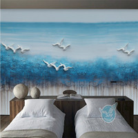Wholesale Dreams Chinese - 3D Stereo Relief Wallpaper Dream Water Landscape Background Wall Hand Painted Wallpaper New Chinese Style Frescoes