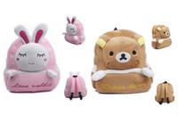 Wholesale Bear Kitty - Reduced Pressure Cartoon Bear Plushed Backpack Kindergarden Bags 4 Designs Pink Rabbit Brown Blue Dark Pink Kitty