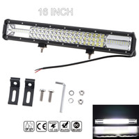 Wholesale truck driving led lights - 7D 16 Inch 360W Car LED Worklight Bar Triple Row Combo Offroad Light Driving Lamp for Truck SUV 4X4 4WD ATV CLT_42M