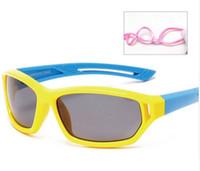 Wholesale Baby Beach Sun Shade - Sport Infant Baby Kids Polarized Sunglasses Children Safety Coating Glasses Sun UV400 Fashion Goggles Shades oculos 864