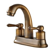 Wholesale Antique Bathroom Sets - 2017 Wholesale Antique Copper Bathroom Faucet Old Style Vintage Basin Mixer Set