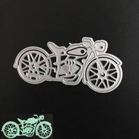 Wholesale Craft Stencils - Motorcycle Metal DIY Cutting Dies Stencil Scrapbook Card Album Paper Embossing Craft