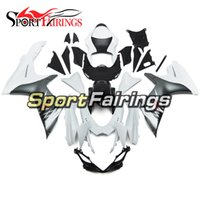 Wholesale Gsxr Abs Motorcycle Fairing - Motorcycle Fairing Kit For Suzuki GSXR-600 GSXR-750 GSX-R600 750 K11 11 12 13 14 Year 2011 2013 2014 White Silver ABS Bodywork Cowlings