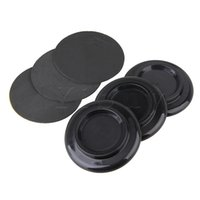 """Wholesale Piano Caster Cups - Wholesale- Yibuy 3pcs 5.31"""" Black Round Plastic Piano Caster Cup Feet Pad Floor Carpet Protector"""