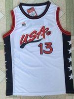 Wholesale Usa Olympic Basketball - 13 Shaquille O'Neal White Mens Basketball Jersey Retro 1996 Atlanta Olympic Games Edition USA Dream 3 Team Sixth O'Neal Jerseys