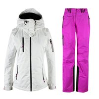 Jackets black snowboarding jackets - Ski Suits Women s jacket pants Waterproof Windproof Warm Snowboarding Skiing Jackets Sports