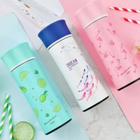 Wholesale fashion press - Fashion Flamingo Mug For Men And Women Outdoor Sport Portable Stainless Steel Water Bottle Many Styles Insulated Cup 31jx C R