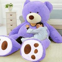 Wholesale giant teddy bear online - 78 quot GIANT HUGE BIG NO FILLER ANIMAL PURPLE TEDDY BEAR PLUSH SOFT TOY CM