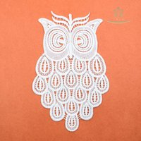 Trims owls pictures - Width High High Quality New Owl Series Water Soluble Milk Silk Embroidery Flower Lace L60027