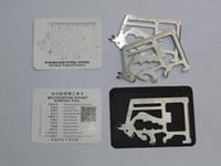 11 werkzeugkarte großhandel-11 in 1 Matador Säbel Karten Tragbare Taschenmesser Kreditkarte Werkzeug Outdoor-Überlebensmesser Camping Survial Tools