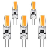Wholesale 12v mini led bulbs - 50X Bi-Pin Mini G4 LED Bulb 12V DC 2W 210 Lumen COB Silicone Lamp Chandelier Combination Crystal Transparent Lamp Warm White