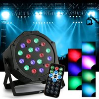 18W RGB Magic Effect Éclairage Éclairage Télécommande DMX512 LED Par Light Lumières de la barre de son pour DJ Party Disco KTV Live Show Venues