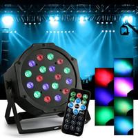 Wholesale Light Show Led Remote Controlled - 18W RGB Magic Effect Stage Lighting Remote Control DMX512 LED Par Light Sound Bar Lights For DJ Party Disco KTV Live Show Venues
