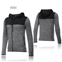 Wholesale Clothing Thin Men - New men's sports jacket hooded jacket Men casual Fashion Thin Windbreaker Zipper Coats jogging clothing black and gray color