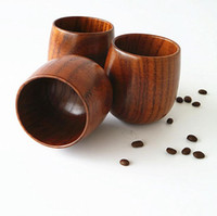Wholesale China Coffe - Wooden Tea Cup 5oz Natural Wood Wine Glasses 150ml Wooden Coffe Mugs Beer Juice Milk Cups OOA2220