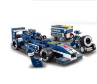 Wholesale 3d Set Models - F1 Racing Car Model Building Block Set 3d Construction Diy Brick Toys Enlighten Toy For Children compatible with brand