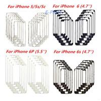 iphone 5s lünette rahmen heißkleber großhandel-IPhone heißer Rahmen für iPhone 5G 5S 5C 6 6P 6S 6sP Originla neuer LCD-Rahmen-Halter-mittlerer Einfassungs-Analog-Digital wandler-Rahmen mit Heißkleber sehr beständig !!!