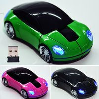 Wholesale Shaped Wireless Mice - 2.4G Car Shape Wireless Optical Keyboards Computers Networking Mouse Mice For Laptop PC USB Receiver 2897
