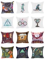 Wholesale Harry Potter Goblet - Hyha Harry Potter Style Dobby Polyester Cushion Cover Goblet of Fire The Deathly Hallows Pillow Cover Decorative Cushion Cover