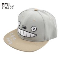 Wholesale Snapback Wholesale Canada - Wholesale- Anime Totoro Hat Lovely Baseball Cap Summer For Men Women Snapback Caps Unisex Hip Hop Gorra Casquette USA Russia Canada