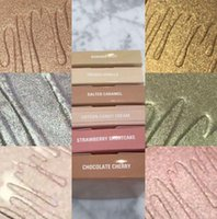 Wholesale Cotton Candy Makeup - NEW Kylie Kylighter Glow Kit Highlighter 6 color Kylie Cosmetics French Vanilla Cotton Candy Salted Carmel Highlighter Glow Face Makeup