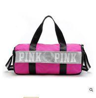 Wholesale Designers Travel Bags Wholesale - Designer Handbags Luxury Bags Women VS Pink Large Capacity Travel Duffle Striped Waterproof Beach Bag Shoulder Bags for Women2017 Handbag