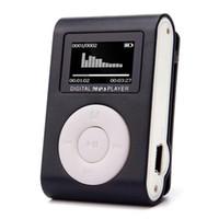 Wholesale mini plastic clip mp3 player for sale - Group buy Mini Clip USB MP3 Player LCD Screen Support GB Micro SD TF Card MP3 Music Player Plastic Black
