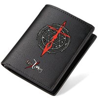 Wholesale Saber Case - Fate Zero wallet Saber anime purse Stay night short long cash note case Money notecase Leather burse bag Card holders