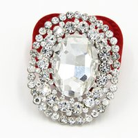 Wholesale Wedding Bouquet Bling - Bling Bling Crystal Luxury Huge Oval Shaped Glass Crystal Women Brooch Bridal Bouquet Pin For Lady Special Women Pin For Hijab Wear Broach