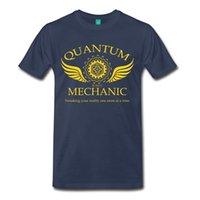 Wholesale Mechanic T Shirts - 2017 new fashion Quantum Mechanic Men's Premium T-Shirt 100% cotton male O-Neck T Shirt Casual short tops tee
