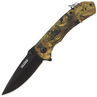 """Wholesale Folding Knife Spring Assist - 8"""" MZY FORCE EDC FALL CAMO SPRING ASSISTED TACTICAL POCKET KNIFE Blade Assist"""
