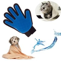 Wholesale True Touch Deshedding Glove Gentle And Efficient Pet Dog Cat Massage Grooming