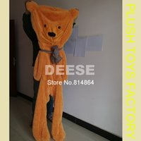 Wholesale Empty Bear Toys - Wholesale- 2016 Plush toys 140cm teddy bear empty shell coat bear skins Light purple with zipper Christmas Valentine's Day, birthday Gifts