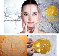 biyolojik nemlendirici kollajen maske toptan satış-24 k Altın Biyo-Kolajen Yüz Maskesi Yüz Bakımı Kadınlar için Kollajen Yüz Maskesi Nemlendirici Peels Cilt Bakımı Kadınlar Için bea464 DHL
