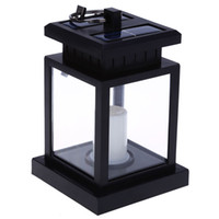 2pcs solar powered led outdoor candle lantern landscape umbrella hang lamp - Outdoor Candle Lanterns